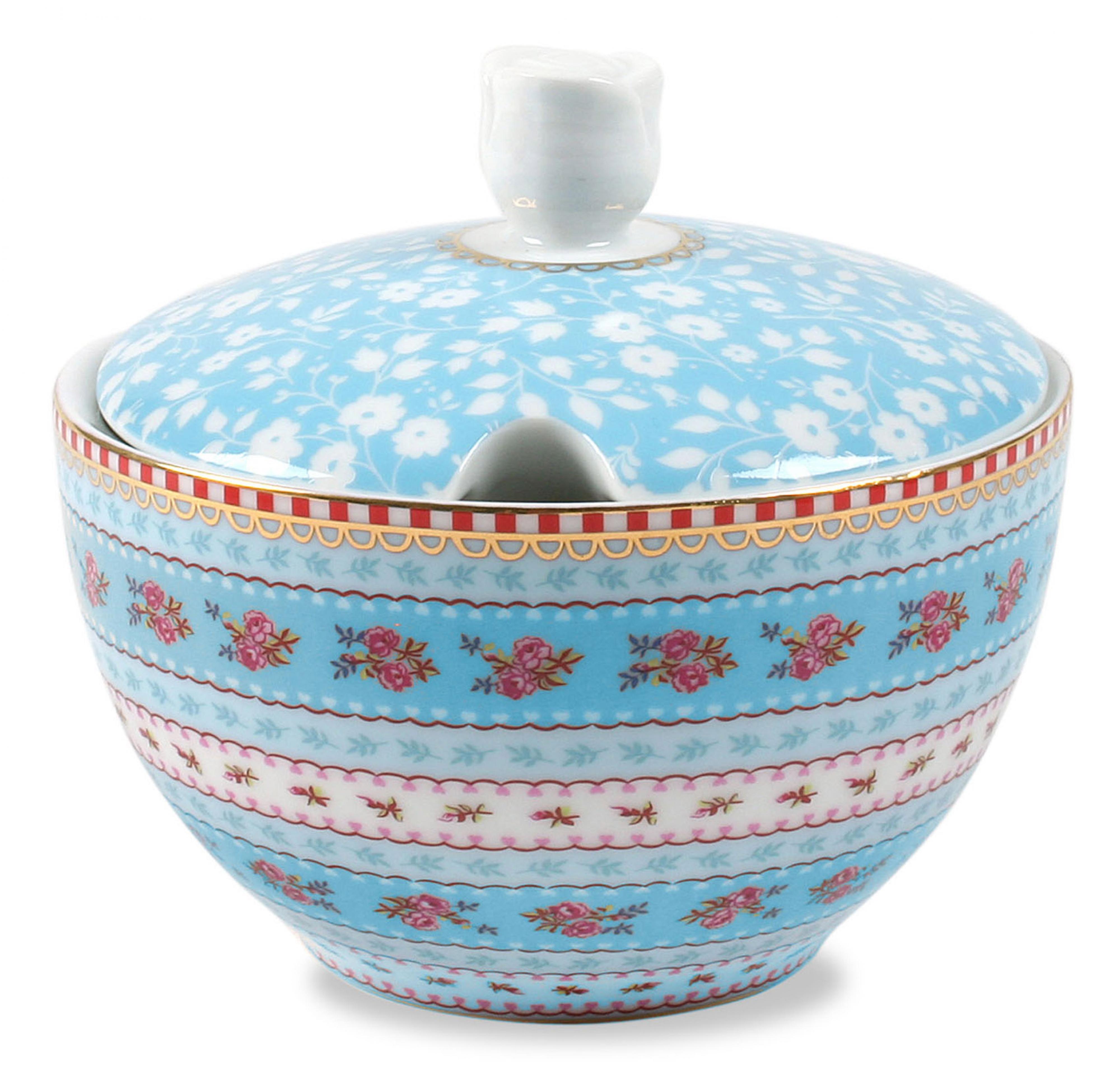 Сахарница PiP Studio Floral, цвет: голубой, 300 мл