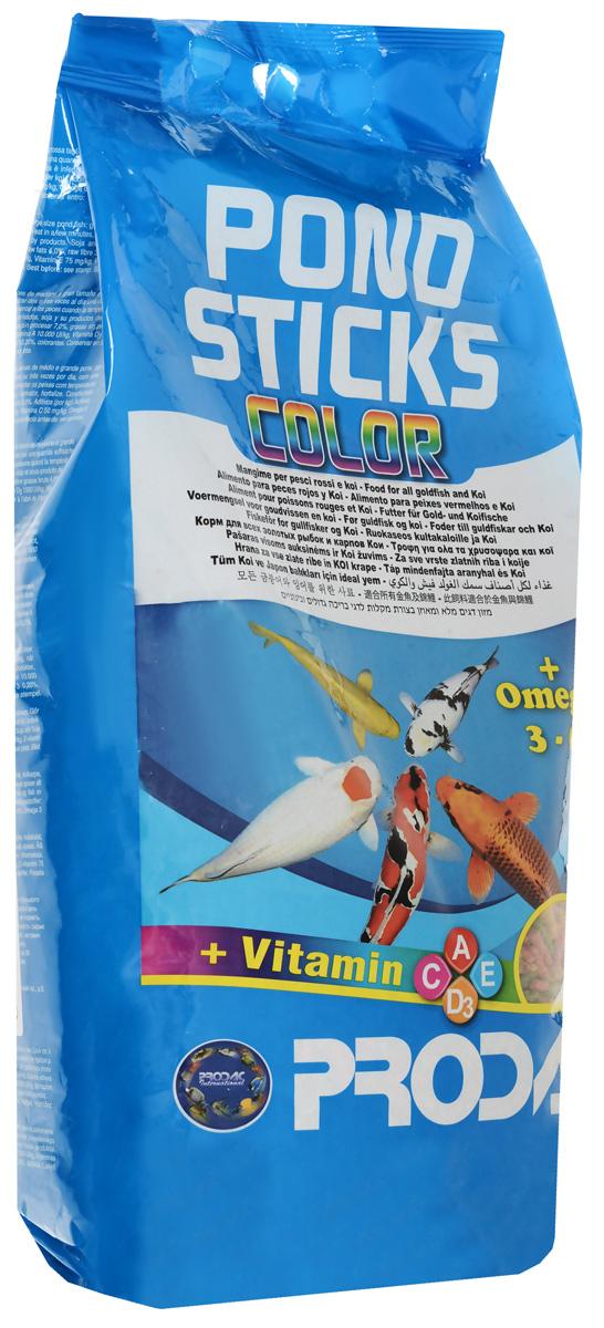 Корм сухой Prodac Pondsticks Color, для прудовых рыб, в виде палочек, 1 кг дельфины porpoise малых и средних размеров корм для рыб корм для рыб тропических рыб корма лампа макрель золотая рыбка микрочастицы 88g