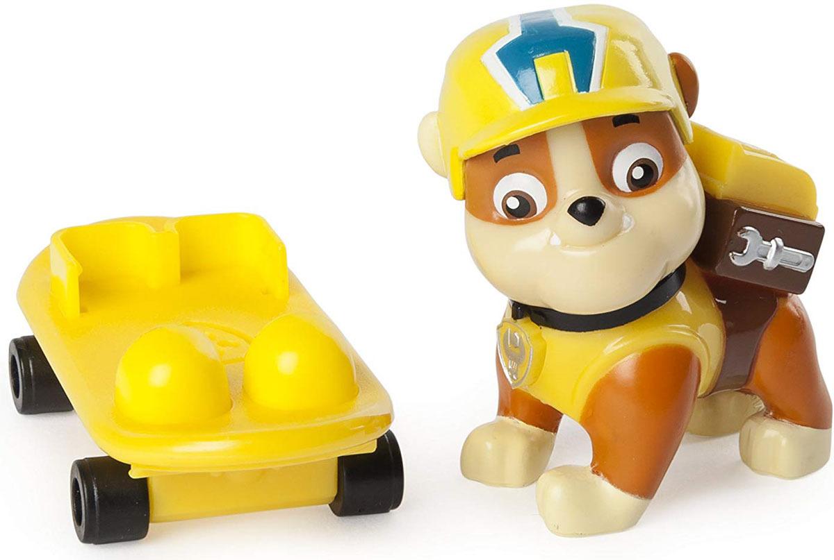 Paw Patrol Фигурка Rubble со скейтбордом paw patrol фигурка pup fu rubble