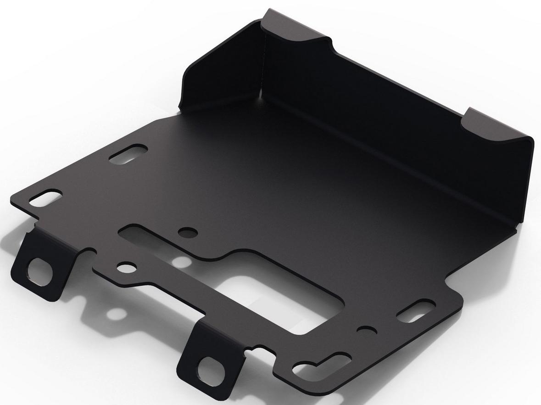 Защита электронного блока управления Rival для Hyundai Solaris II 2017-н.в./Kia Rio IV седан, хэтчбек X-Line 2017-н.в., сталь 2 мм, с крепежом. 111.2843.1