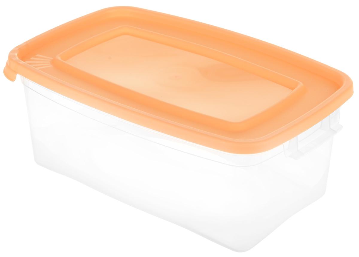 Контейнер Полимербыт Каскад, цвет: оранжевый, 1 л. С570_вид 2 аптечка полимербыт 6 5 л с вкладышем