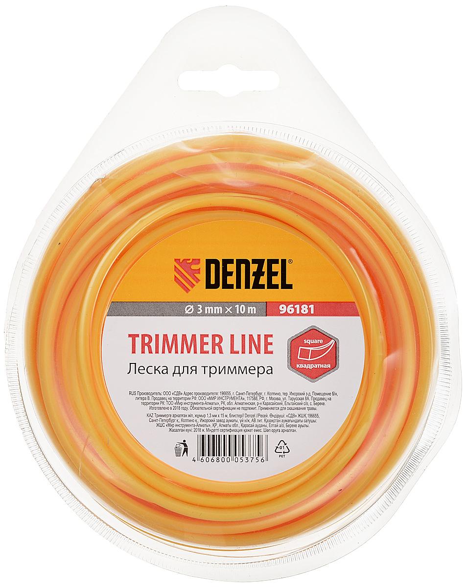 """Леска для триммера квадратная """"Denzel"""", 3,0 мм х 10 м"""
