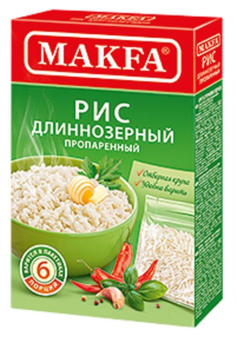 Makfa рис длиннозерный пропаренный в пакетах для варки, 5 шт по 80 г увелка рис круглозерный в пакетах для варки 5 шт 80 г