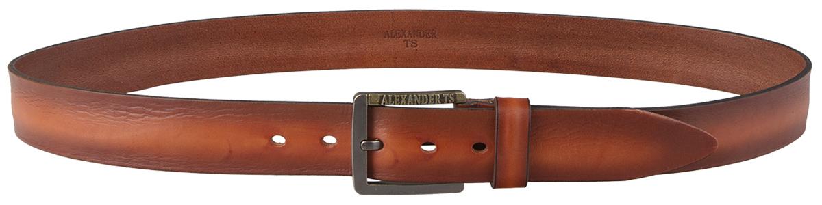 Ремень Alexander-ts двухшпеньковый кожаный ремень джинсовый