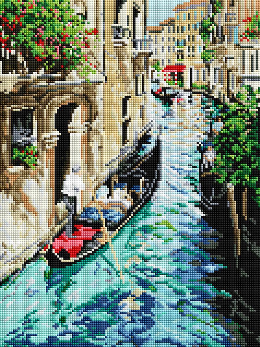 Алмазная мозаика Белоснежка Прогулка по Венеции, 30 х 40 см набор для творчества алмазная мозаика храм василия блаженного 40 х 50 см