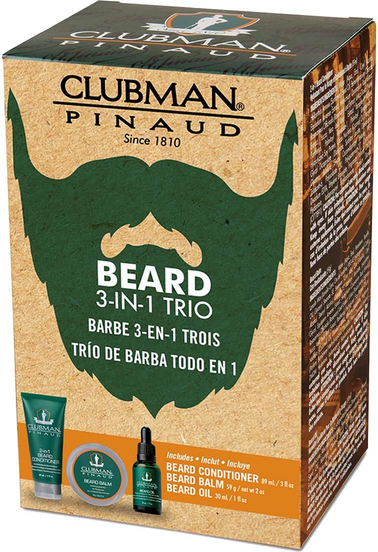 Подарочный набор Clubman Beard 3-in-1Trio: крем-кондиционер, воск-бальзам, масло щипцы imetec bellissima bhs3 100 11307
