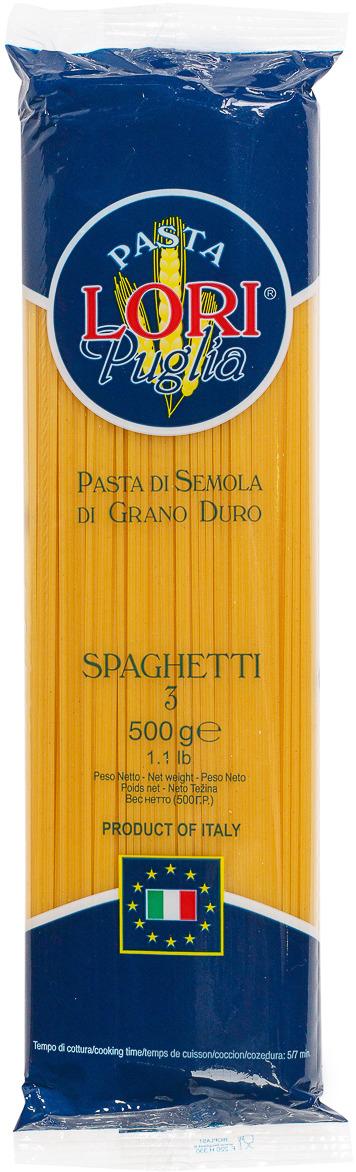 Макароны Pasta Lori Puglia Спагетти №3, 500 г