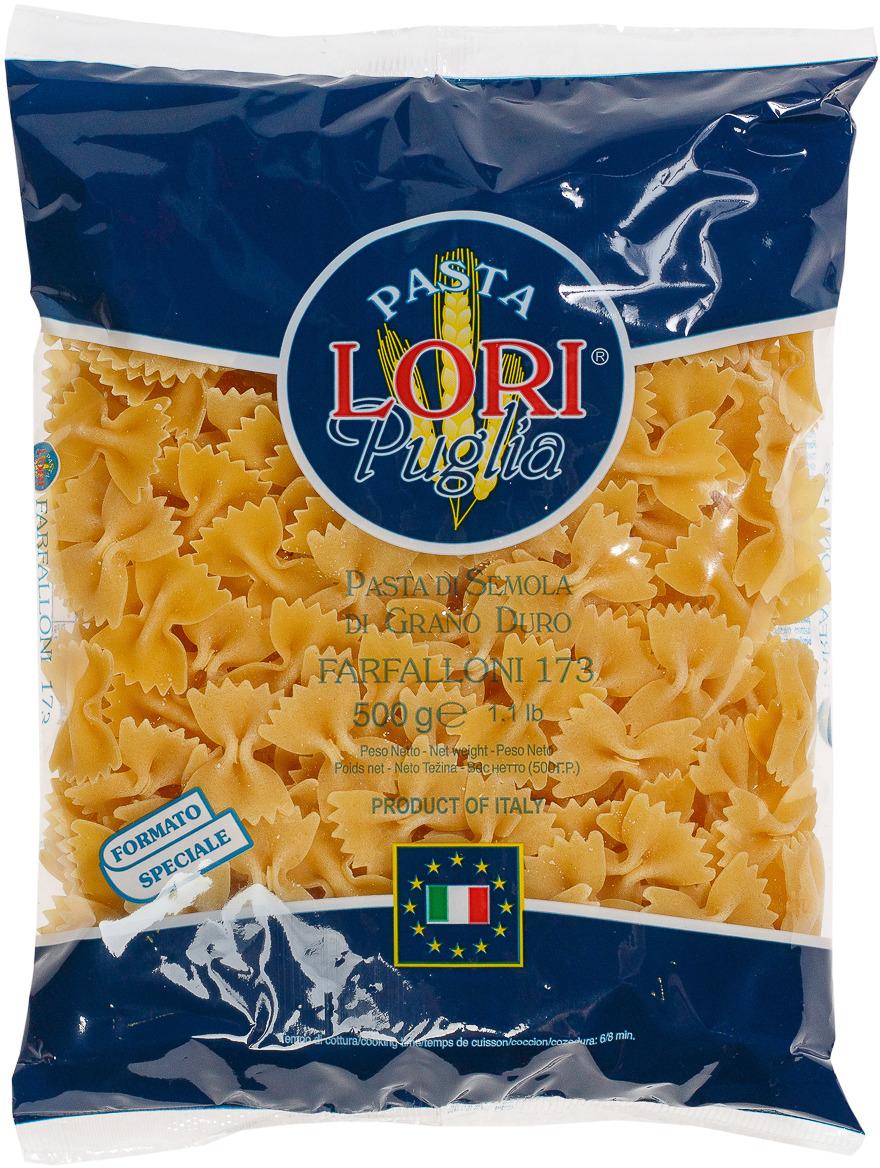 Макароны Pasta Lori Puglia Фарфаллe №173, 500 г
