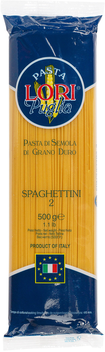 Макароны Pasta Lori Puglia Спагеттини №2, 500 г