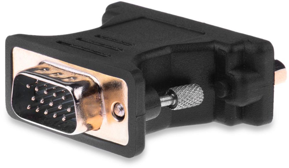 Переходник Vention DV350VG, Black адаптер переходник vention dvi i 24 5 m vga 15f