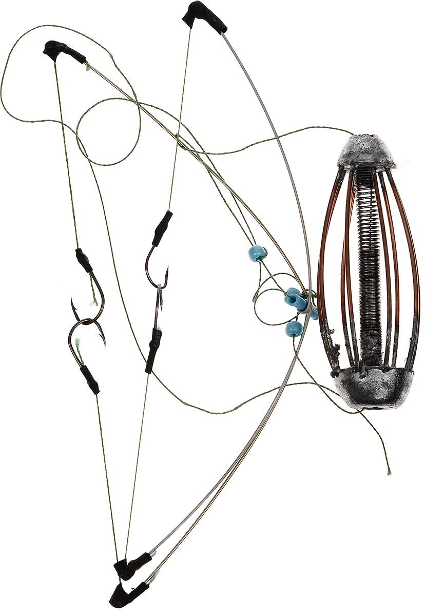 Кормушка для рыбы Монтаж К-4, оснащенная коромыслом и 2 отводами, 30 г