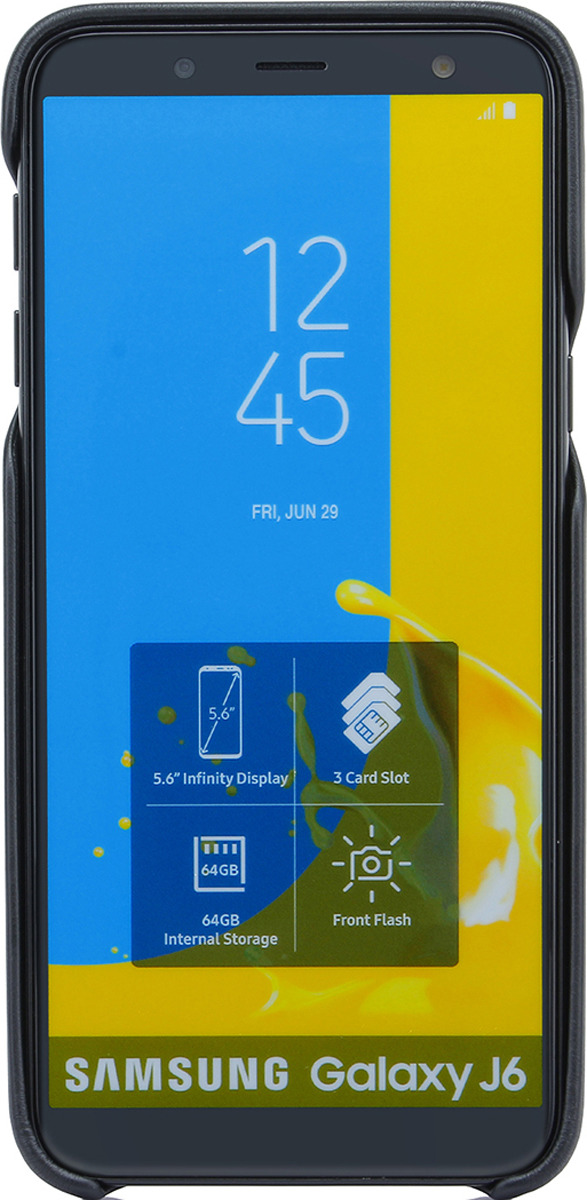Чехол G-Case Slim Premium для Samsung Galaxy J6 (2018), Black g case slim premium чехол для samsung galaxy s8 black