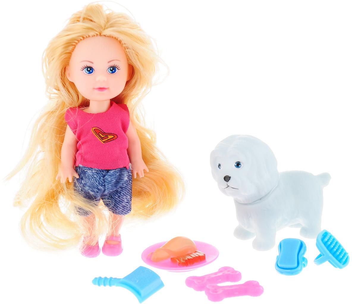 цены на Mary Poppins Мини-кукла Малютка Мэгги Хозяюшка с собакой  в интернет-магазинах