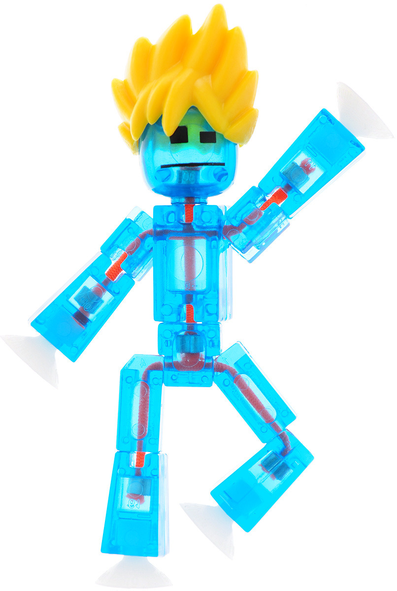 Stikbot Фигурка с аксессуарами Прически цвет голубой желтый коричневый