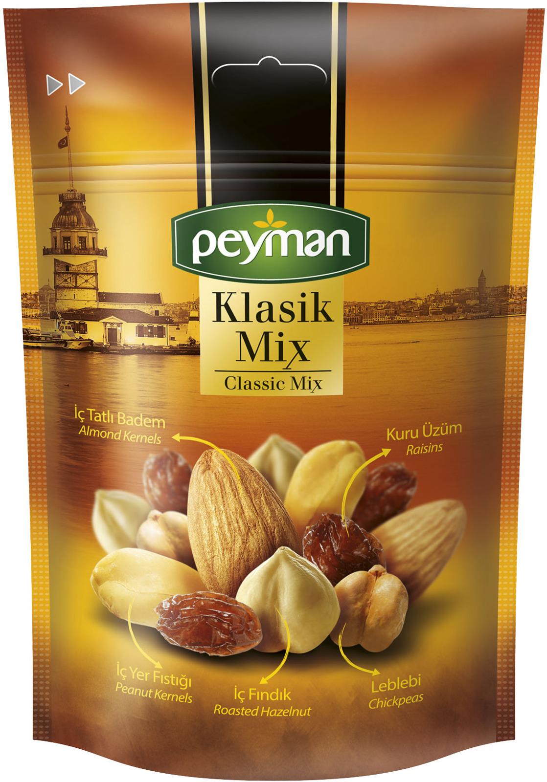 Смесь орехов, сухофруктов Peyman Klasik Mix, 130 г