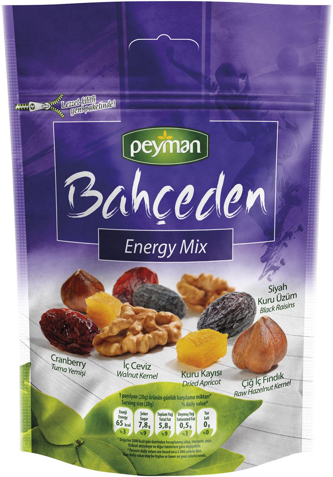 Смесь орехов, сухофруктов, ягод Peyman Energy Mix, 60 г
