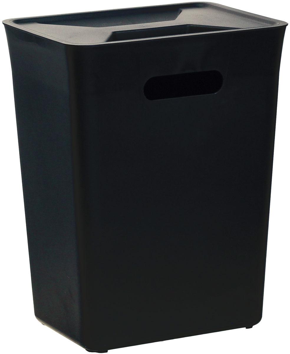 """Контейнер для мусора """"Idea"""", навесной, цвет: черный, 12 л"""