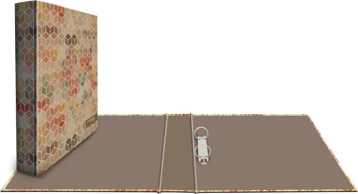 Expert Complete Папка-регистратор 2 кольца Крафт с дизайном Кубы цены онлайн