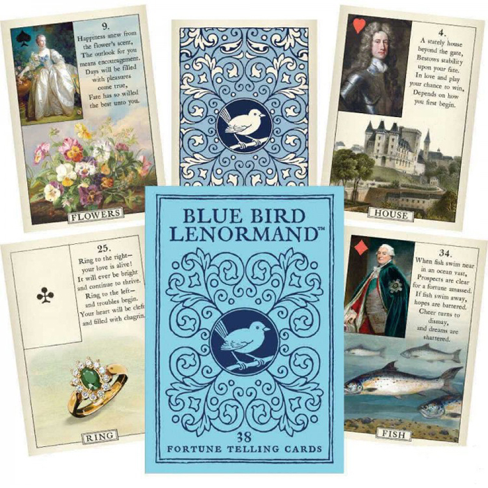 Карты Оракул U. S.  Games Systems Oracle cards Blue Bird Lenormand U.S. Games Systems