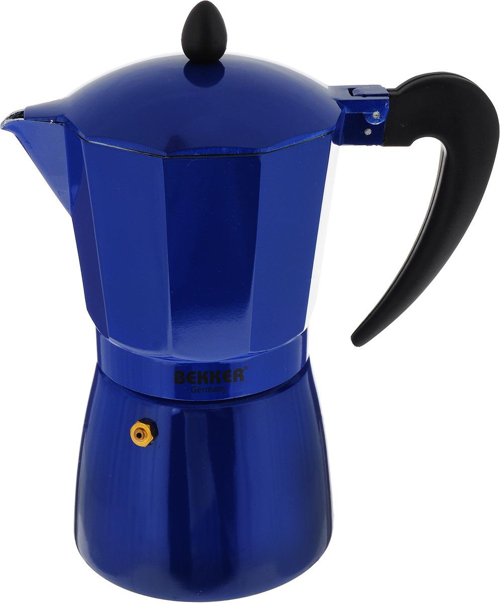 Кофеварка гейзерная Bekker Koch, цвет: синий, черный, 450 мл автохимия koch москва
