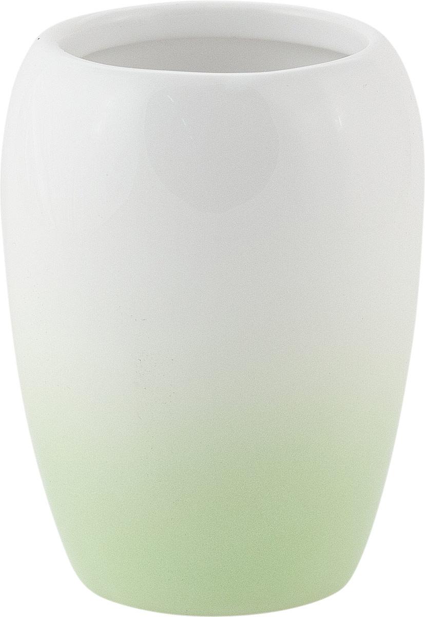 """Стакан для ванной комнаты Swensa """"Gradient"""", цвет: зеленый, 200 мл"""