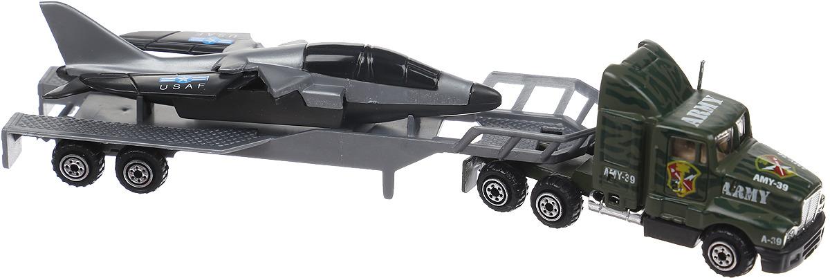 Машинка Pioneer Toys Трейлер. Грузовик с ракетой, цвет: серый pioneer toys машинка строительная техника каток