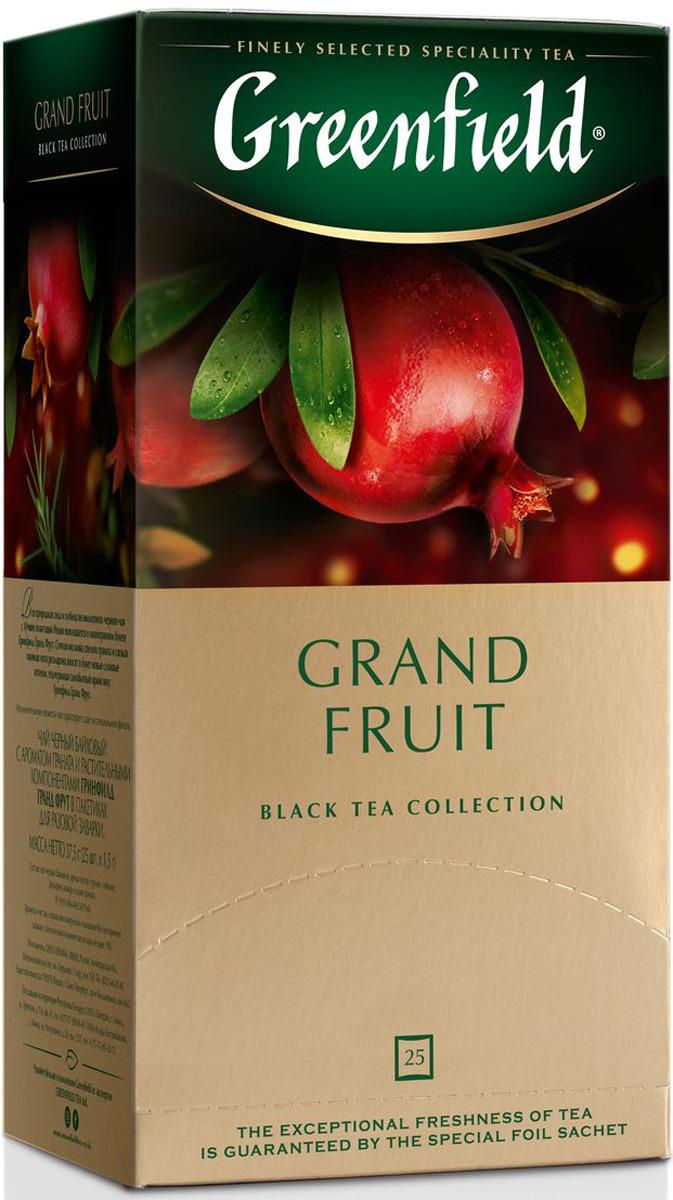 Черный чай в пакетиках Greenfield Grand Fruit, 25 шт greenfield honey linden черный чай с липой и медом в пакетиках 25 шт