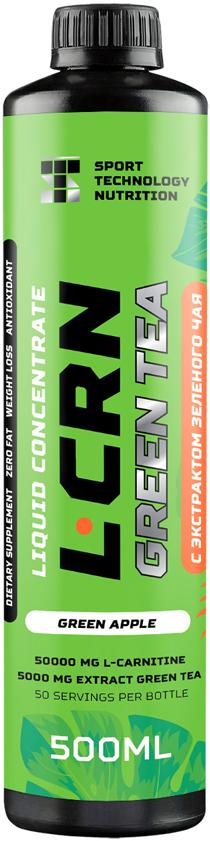 L-карнитин Sport Technology Nutrition L-carnitine + Green Tea, 0,5 л l карнитин sport technology nutrition l carnitine guarana 0 5 л