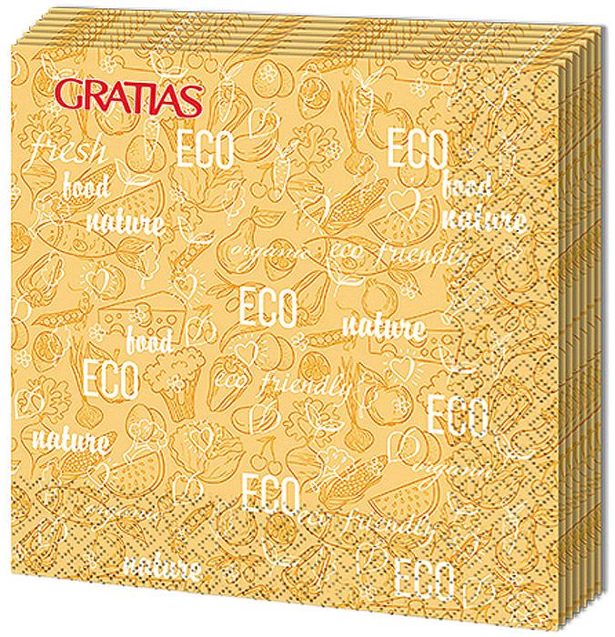 Салфетки бумажные Gratias Эко, трехслойные, 33 х 33 см, 12 шт салфетки бумажные gratias мишутка трехслойные 33 х 33 см 20 шт