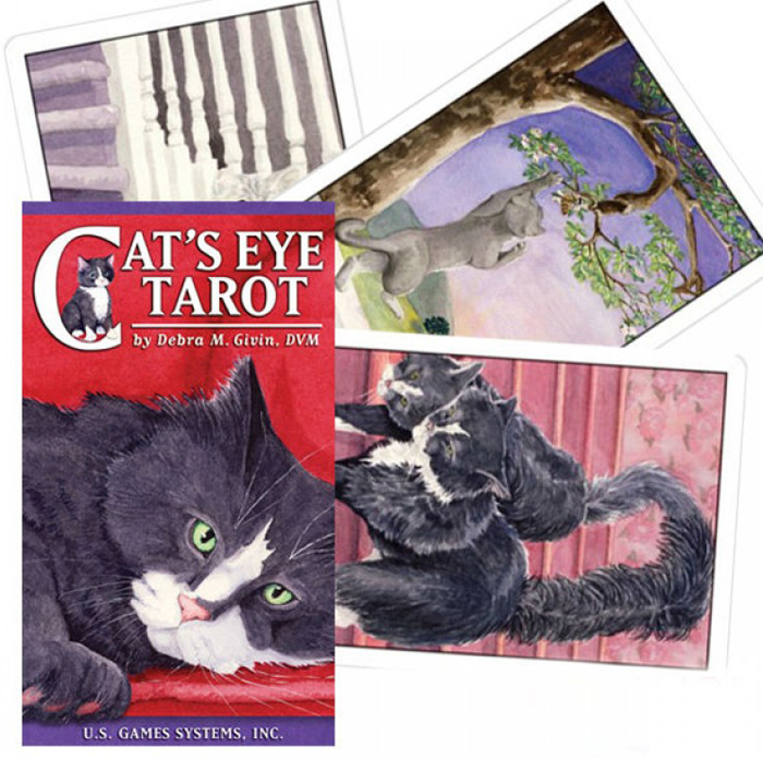 Карты Таро U.S. Games Systems Cats Eye Tarot карты таро u s games systems yoga cats challenges cards