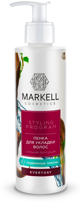 "Пенка для укладки волос Markell ""Everyday"", суперсильная фиксация, 200 мл"