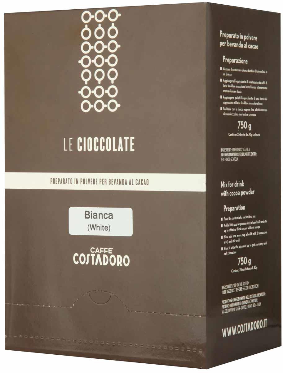 Какао растворимый Costadoro Le Cioccolate White Chocolate, 25 шт по 30 г