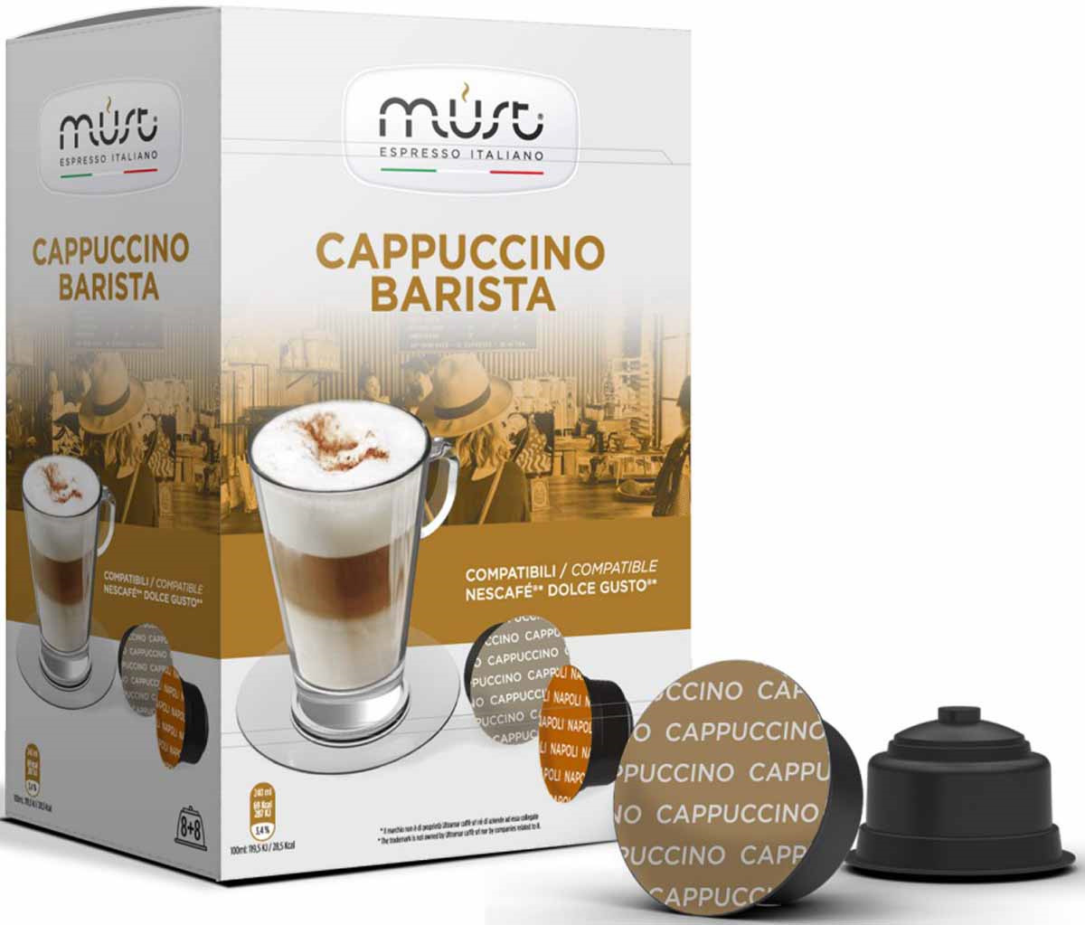 Кофе молотый MUST Cappucino Barista, в капсулах, 16 шт по 12 г