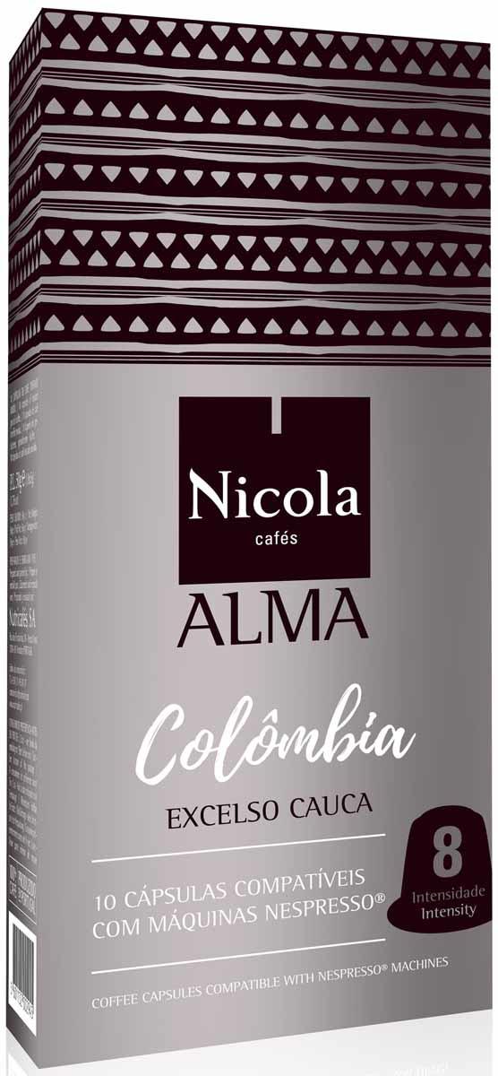 Кофе молотый Nicola Alma Colombia, в капсулах, 10 шт