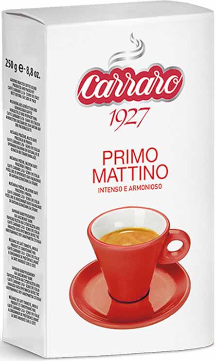 Кофе молотый Caffe Carraro Primo Mattino, 250 г цена 2017