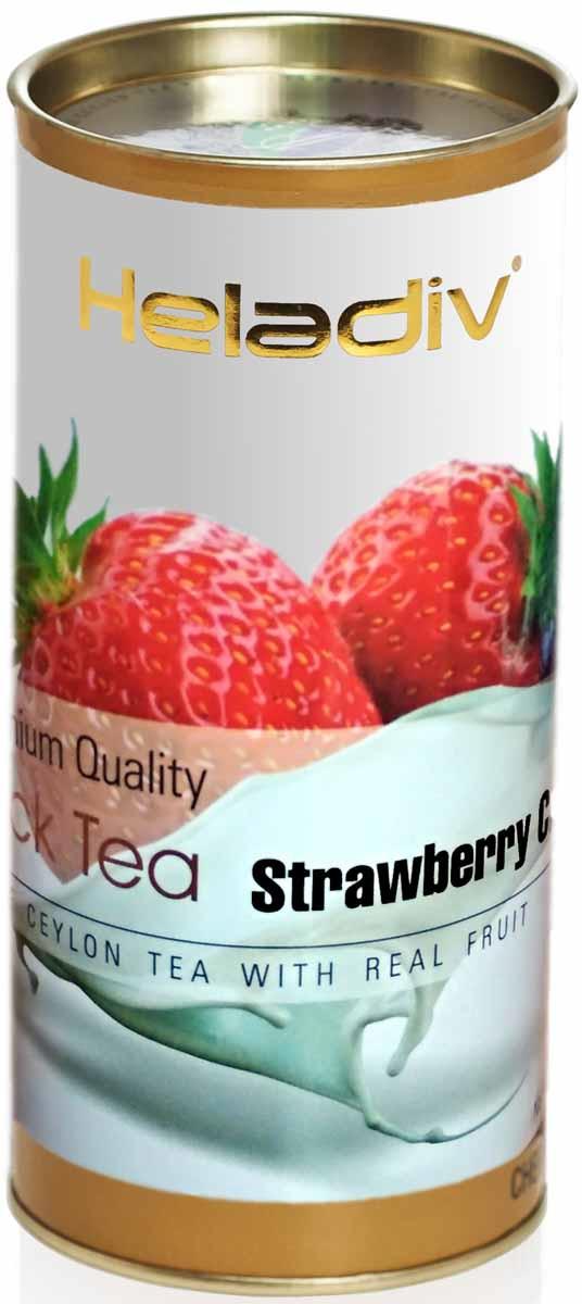 Чай листовой Heladiv Strawberry Cream, 100 г мыло нэфис лес полянка 5 75 гр клубника со сливками 932492