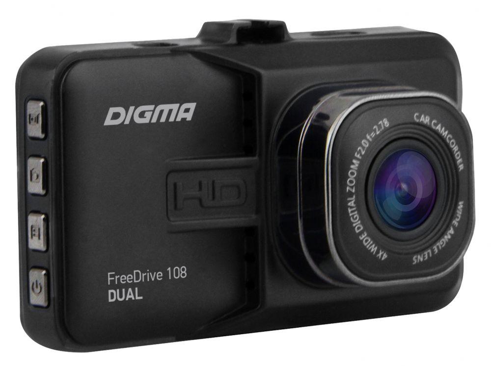 Видеорегистратор Digma FreeDrive 108 Dual, Black видеорегистратор tesla rovereye a7 dual