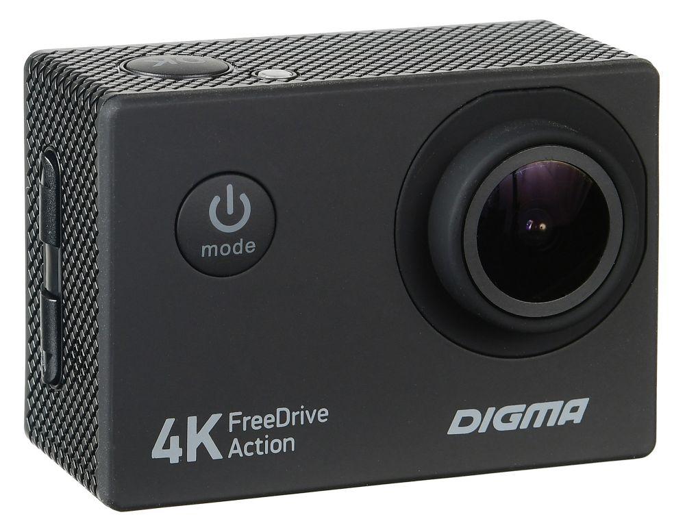 Видеорегистратор Digma FreeDrive Action 4K, Black автомобильный видеорегистратор digma freedrive 400