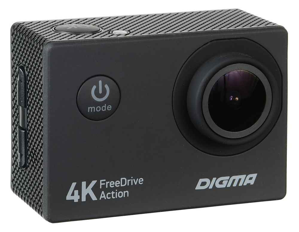 Видеорегистратор Digma FreeDrive Action 4K, Black видеорегистратор digma freedrive 108 dual