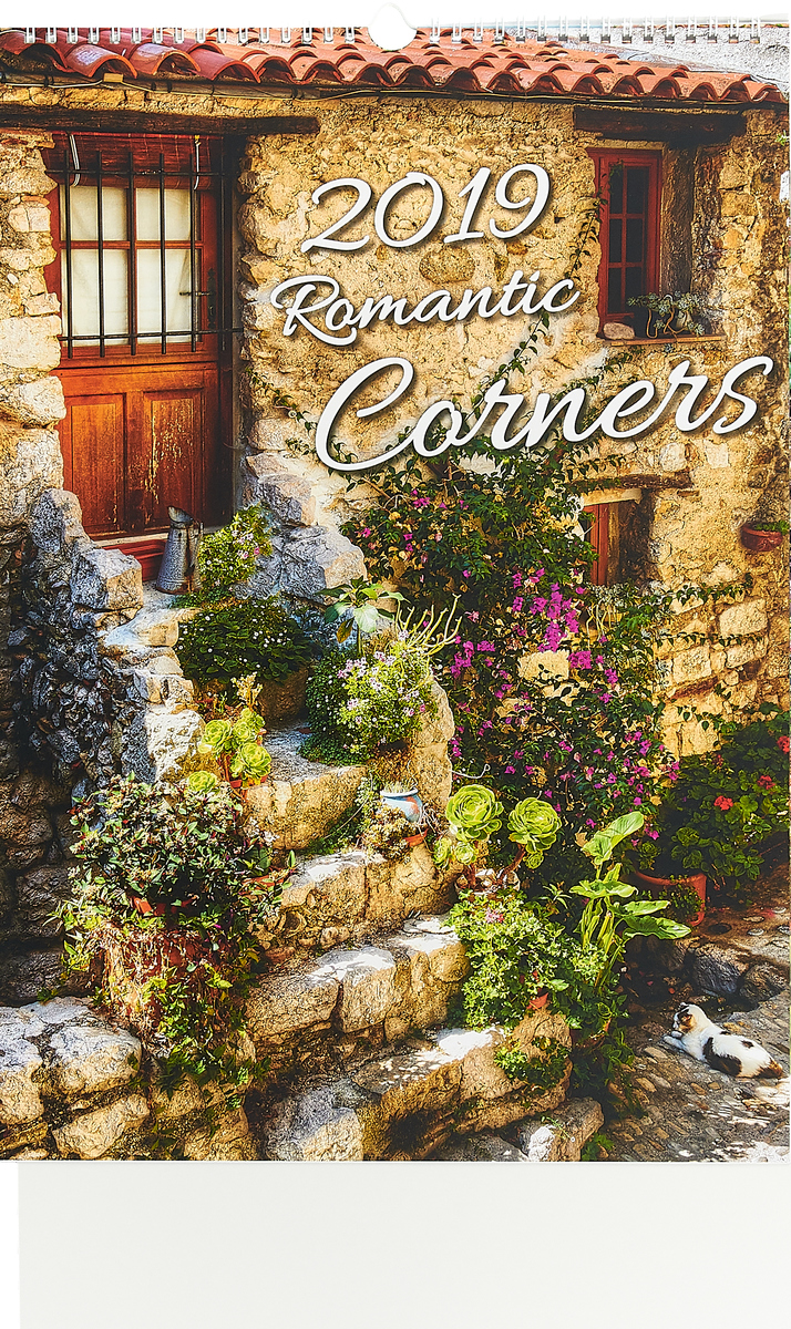 Календарь 2019 (на спирали). Romantic Corners