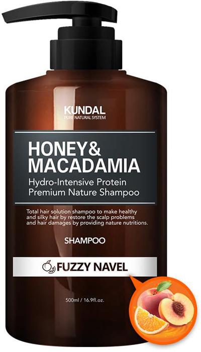 Шампунь для волос Kundal Honey & Makadamia Nature Shampoo Fuzzy Navel, безсульфатный, 500 мл джемпер makadamia makadamia ma167ewvex42