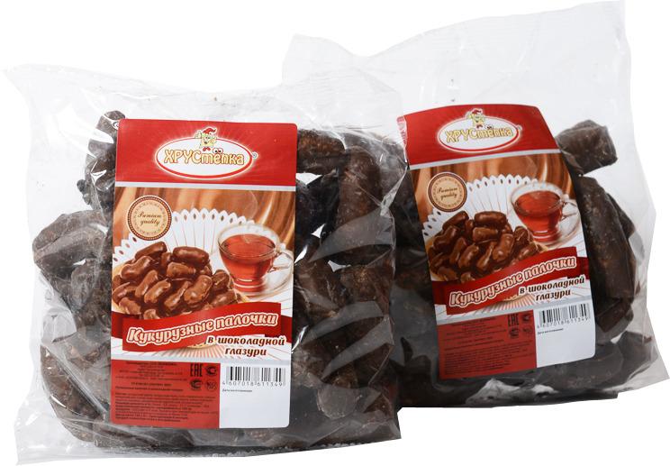 Кукурузные палочки в шоколадной глазури ХРУСтёпка, 120 г amado кофейные зерна в шоколадной глазури 25 г