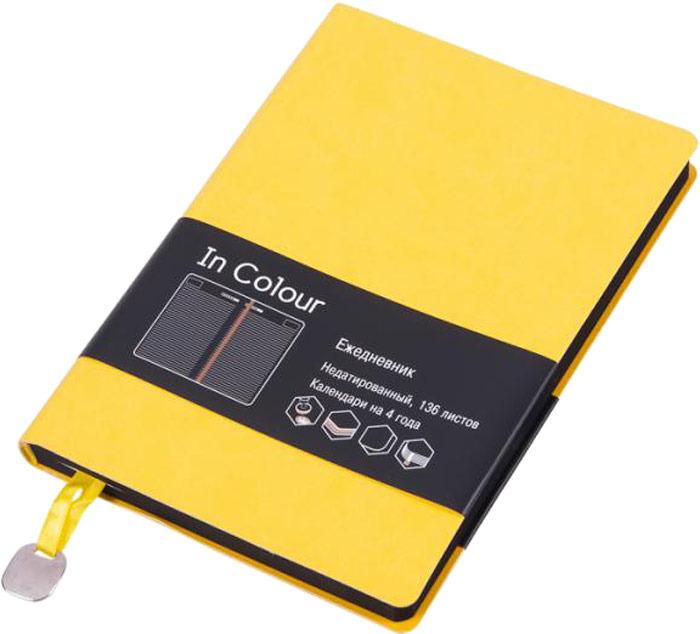 Ежедневник Listoff, цвет: желтый, 136 листов ежедневник listoff офисный стиль яркий цвет а5 176 листов