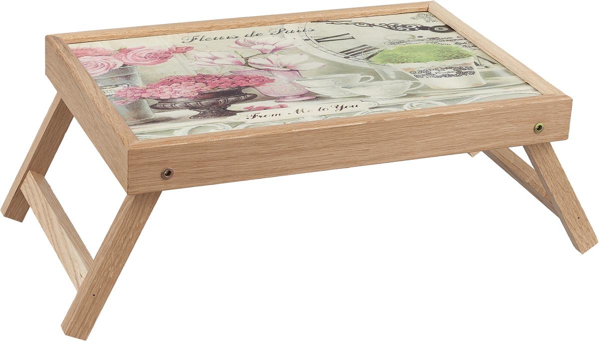 """Столик с раскладными ножками Gift'n'Home """"Парижские цветы"""", 25 х 37,5 см"""