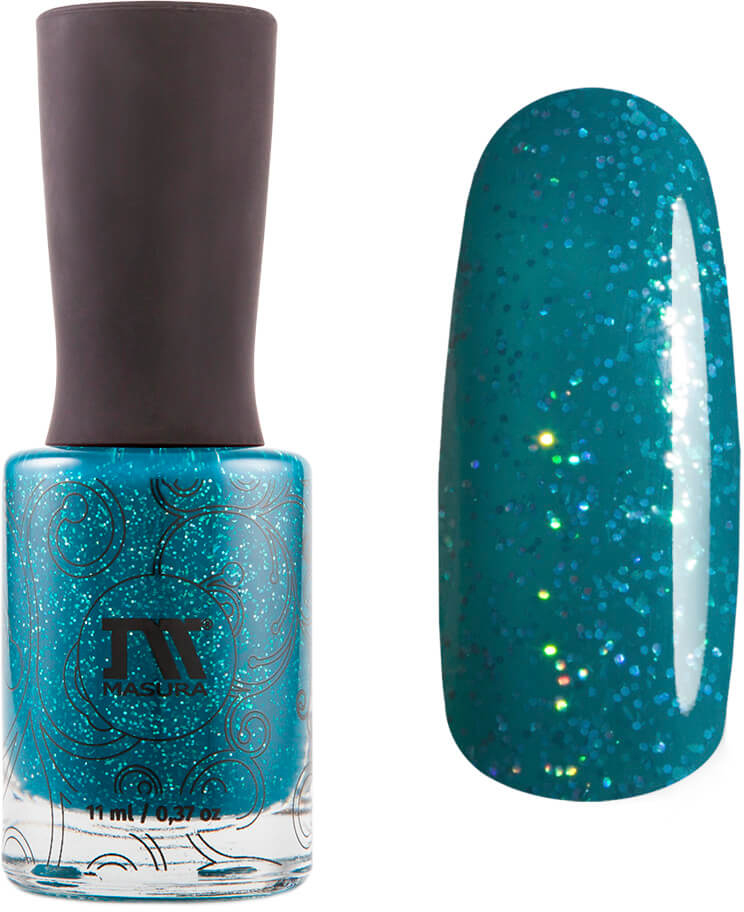 купить Masura Лак для ногтей Sparkle Teal The End, 11 мл дешево