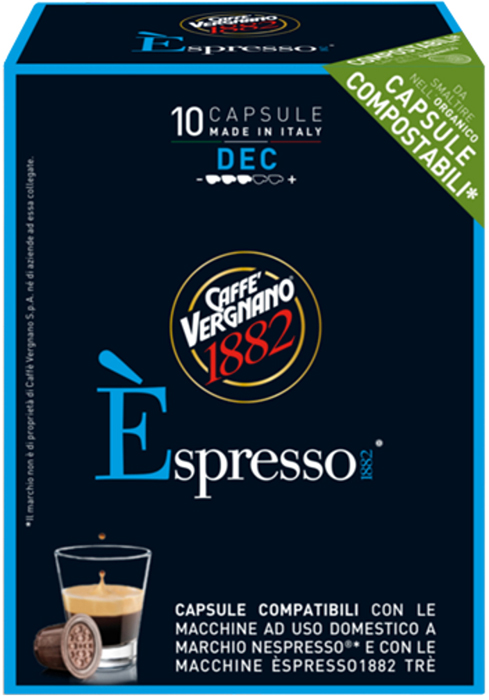 Капсулы Vergnano E'spresso Decaf, 10 шт капсулы vergnano e spresso bio 100