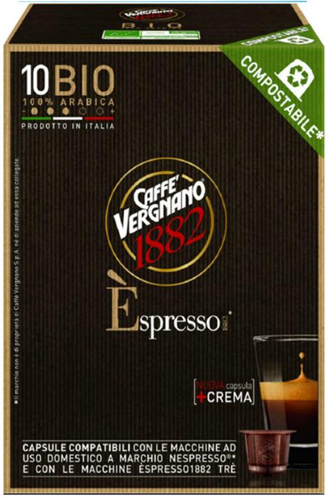Капсулы Vergnano E'spresso Bio 100% Arabica, 10 шт капсулы vergnano e spresso bio 100