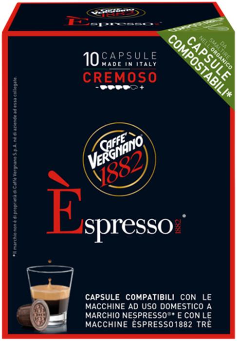 Капсулы Vergnano E'spresso Cremoso, 10 шт капсулы vergnano e spresso bio 100