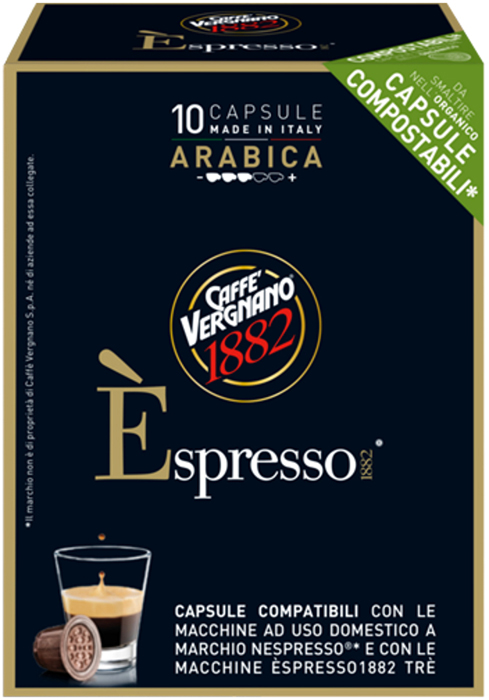 Капсулы Vergnano E'spresso Arabica, 10 шт капсулы vergnano e spresso cremoso 10 шт