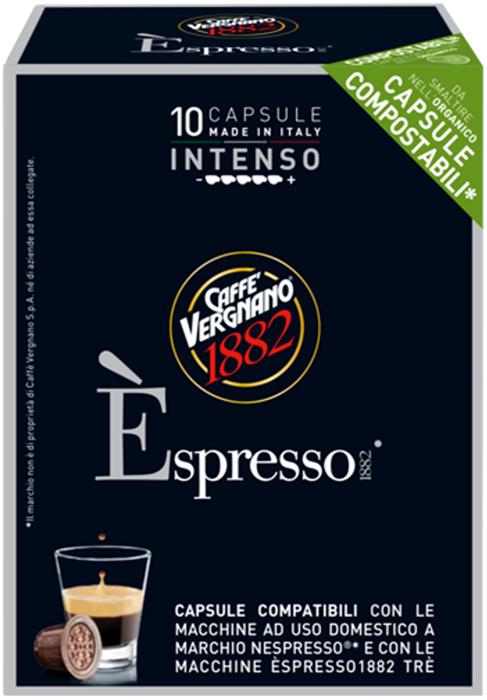 Капсулы Vergnano E'spresso Intenso, 10 шт капсулы vergnano e spresso cremoso 10 шт